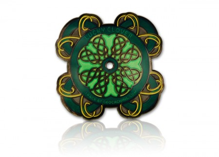 Celtic Lucky Clover Geocoin